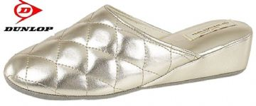 Dunlop Ladies Wedge Heel Mule Slippers,